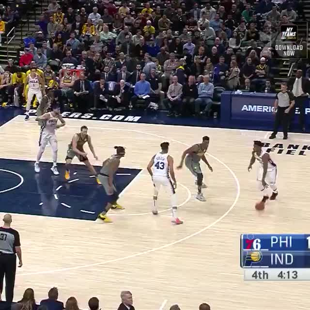 Watch and share Philadelphia 76ers GIFs and Indiana Pacers GIFs on Gfycat