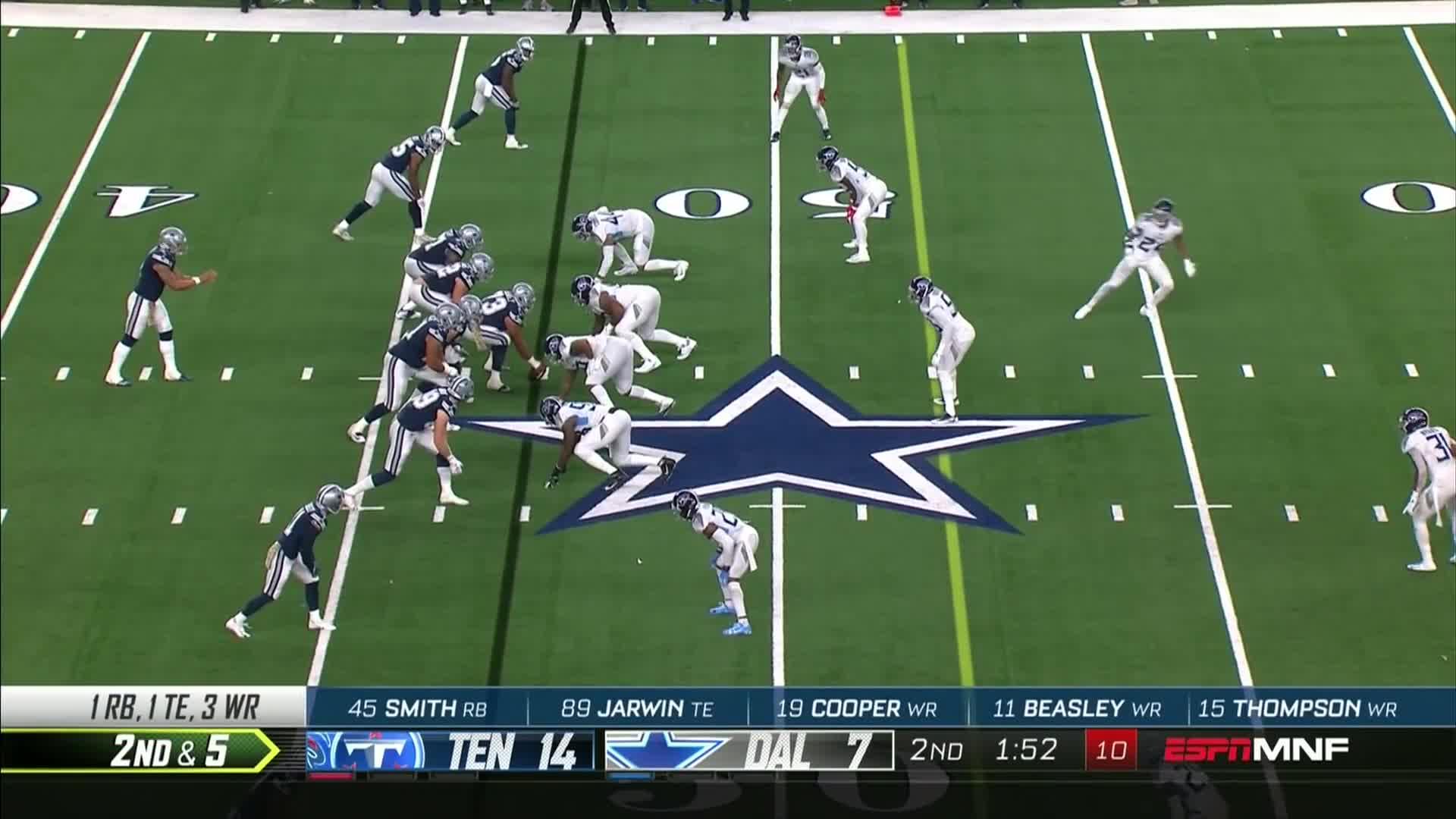 afc, american football, cowboys, dallas cowboy, defense, football, game, highlight, highlights, nfc, nfl, offense, tennessee titans, titans, Titans vs. Cowboys Week 9 Highlights | NFL 2018 GIFs