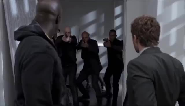 defenders, iron fist, luke cage, Marvel's The Defenders Epic Hallway Fight Scene GIFs