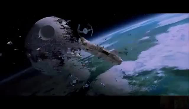 Watch and share Star Wars: Return Of The Jedi VI - Battle Of Endor (Space Only) 1080p GIFs on Gfycat