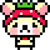 Watch and share Sad Korilakkuma Pixel animated stickers on Gfycat