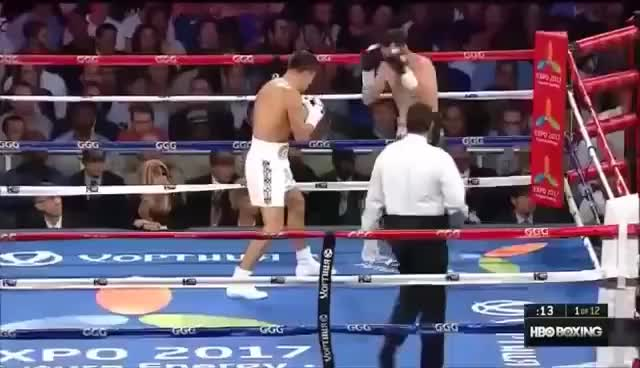 "Watch Gennady ""GGG"" Golovkin vs Daniel Geale - Full Fight (HBO) GIF on Gfycat. Discover more related GIFs on Gfycat"