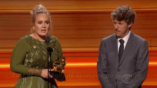 Watch and share Adele Grammys GIFs on Gfycat