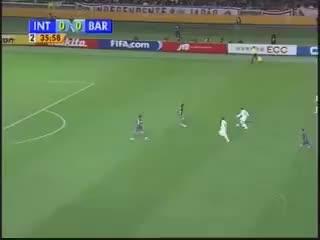 "Watch and share Internacional 1 X 0 Barcelona. Gol De Adriano ""Gabiru"" GIFs on Gfycat"
