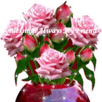 Watch and share Ani.1st  Glitter Ruby Vase With Pink Roses animated stickers on Gfycat