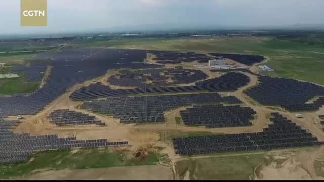 Watch China's panda-shaped solar plant begins trial operation GIF by Slim Jones (@slimjones123) on Gfycat. Discover more cctvnews, cgtn, news GIFs on Gfycat