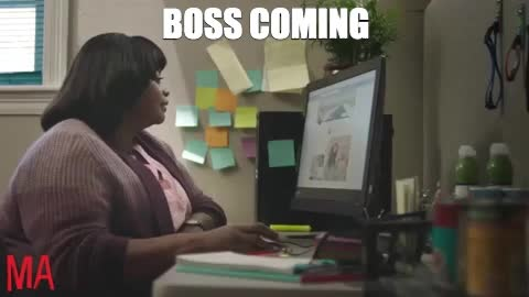 back to work, ma, ma movie, monday, mondays, octavia spencer, work, working, MA Boss Coming at Work GIFs