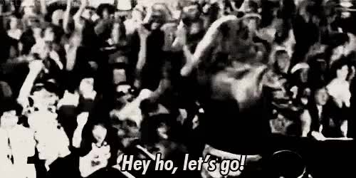 Watch and share Hey Ho Let's Go GIFs and Joey Ramone GIFs on Gfycat