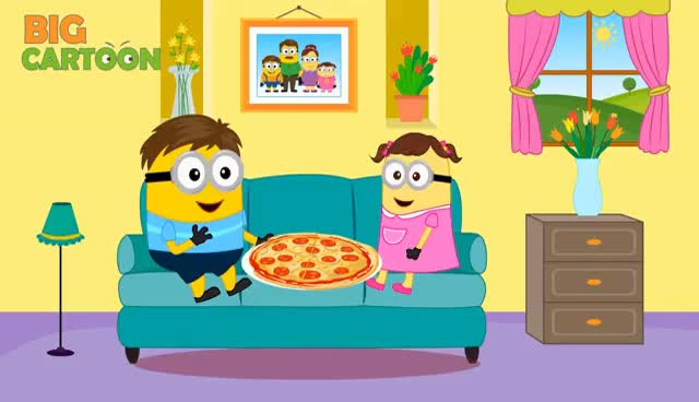 Watch and share Minions Banana Eating Pizza & Hot Chili Crying Full Movie Finger Family Minions Songs Nursery Rhymes GIFs on Gfycat