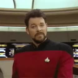 Watch Riker smiling GIF by @mistere42069 on Gfycat. Discover more celebs, jonathan frakes GIFs on Gfycat