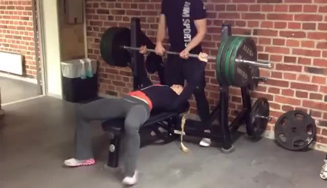 Watch and share Sarah Bäckman GIFs and Bench Press GIFs on Gfycat