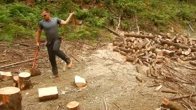 Watch Splitting ~1 Full Cord Non-Stop with Double Axes GIF by @meskal on Gfycat. Discover more double axe, firewood, fitness GIFs on Gfycat