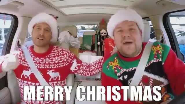 MERRY CHRISTMAS, baby, blow, buble, carpool, christmas, come, corden, happy, holidays, home, james, karaoke, kiss, kisses, love, merry, merry christmas, michael, please, xmas, 'Christmas (Baby Please Come Home)' Carpool Karaoke GIFs