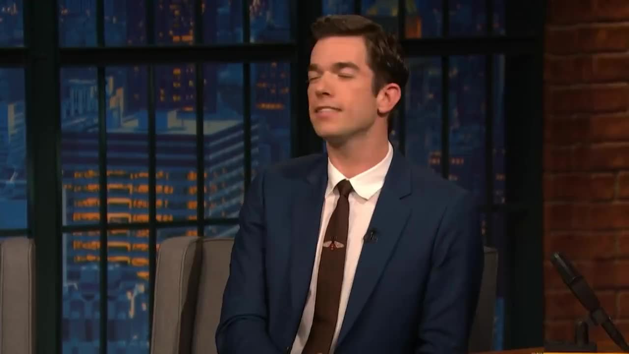 NBC, Promo, Seth, Stand-Up, Writer, actor, attempt, comedian, comedy, funny, host, meyers, mulaney, oh, parody, satire, television, unsuccessful, John Mulaney's Attempt to Solve a Mystery Was Unsuccessful GIFs