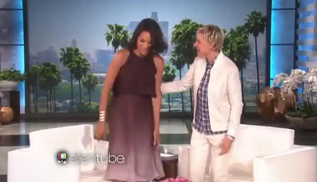 Watch and share Rosario Dawson Dances On 'Ellen' GIFs on Gfycat