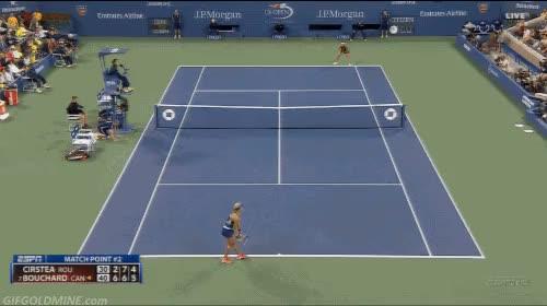 Watch and share Eugenie Bouchard Match Point Third Round GIFs by myregularface on Gfycat