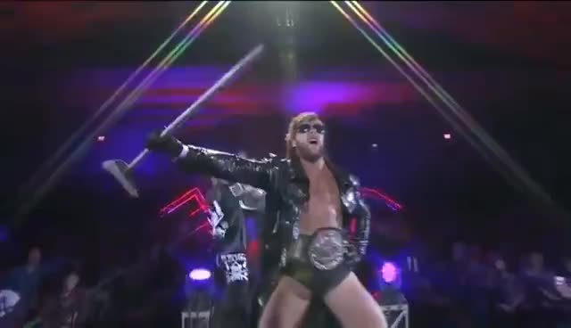 Kenny Omega entrance NJPW Power Struggle 2015 GIFs