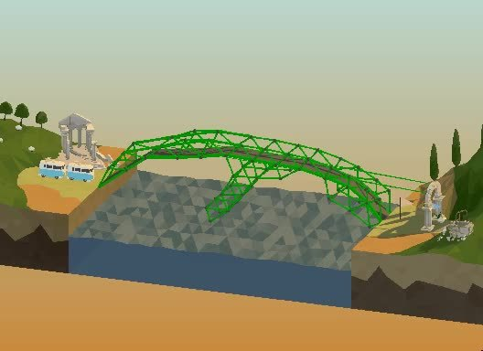 polybridge, I don't know how I managed to get the vehicles across. (reddit) GIFs