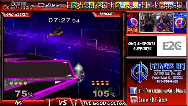 Aki vs The Good Doctor - Gamers HQ Weekly Super Smash Bros