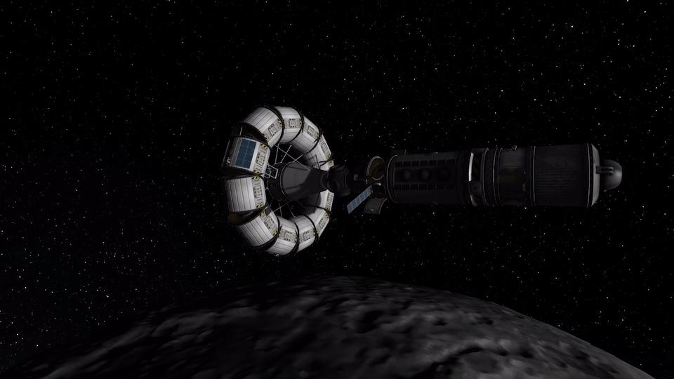 kerbalspaceprogram, kspgifs, spacegifs, Stacja Munarna GIFs
