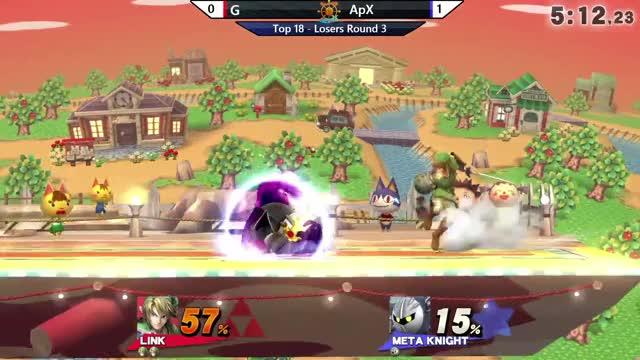 Watch The career ender GIF on Gfycat. Discover more AltoMare Smash, Seven Seas Tournament, apx, games, link, metaknight, ssb4, ssbu, ssbwiiu, twitch GIFs on Gfycat