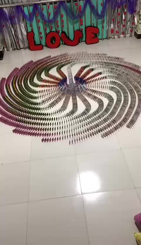 Watch and share The Way These Colorful Dominos Fall GIFs on Gfycat