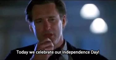 Watch and share Bill Pullman Independence Day - Today We Celebrate Our Independence Day GIFs on Gfycat