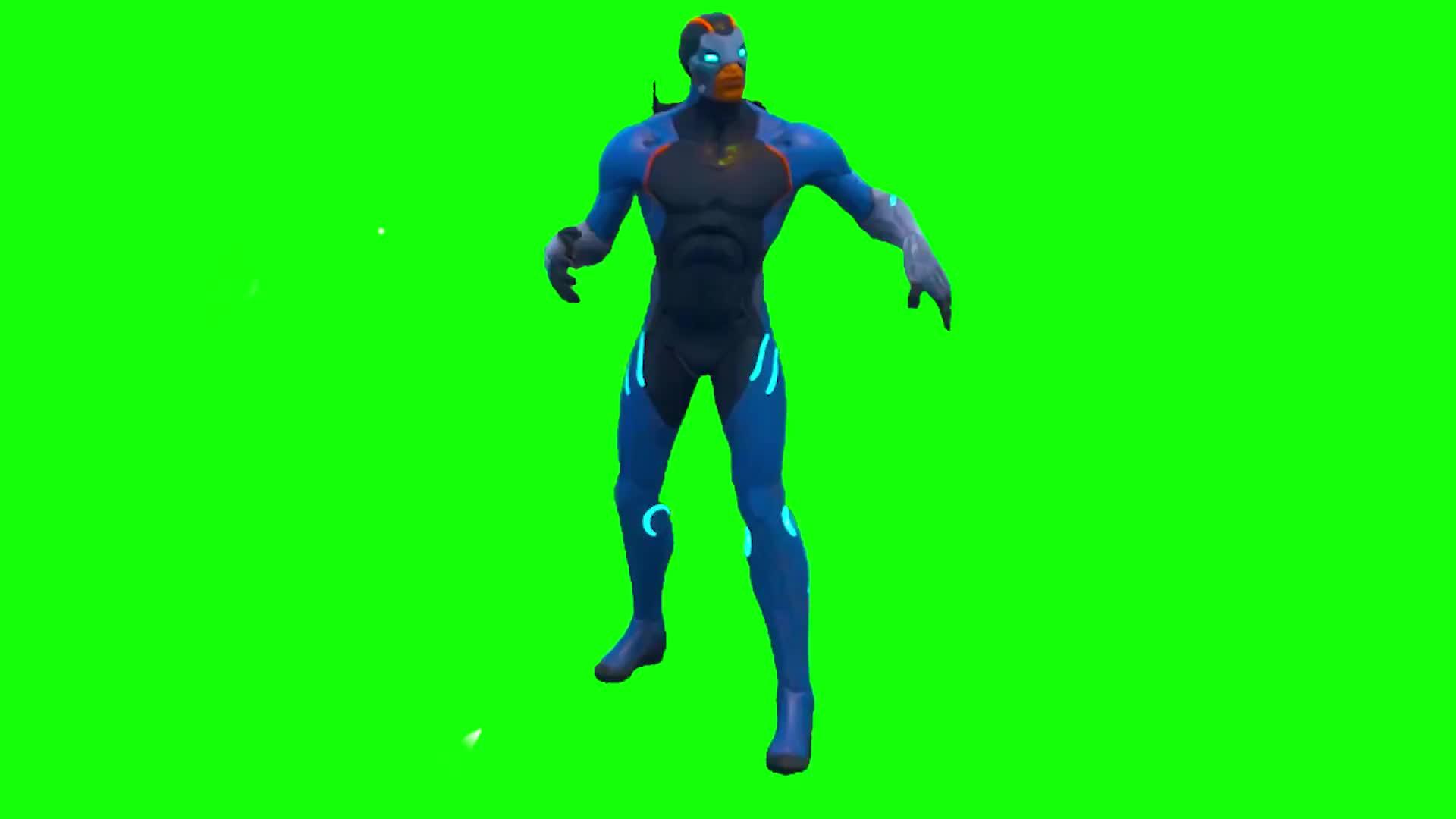 Fortnite Season 4 New Skin Green Screen Default Dance Gif Find
