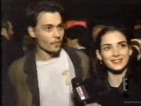 Watch and share Winona Ryder, Johnny Depp, Couple, Cute, Hot GIFs on Gfycat