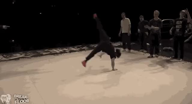 Watch Bboy Pocket does an amazing one-handed air flair (i..com) GIF on Gfycat. Discover more related GIFs on Gfycat