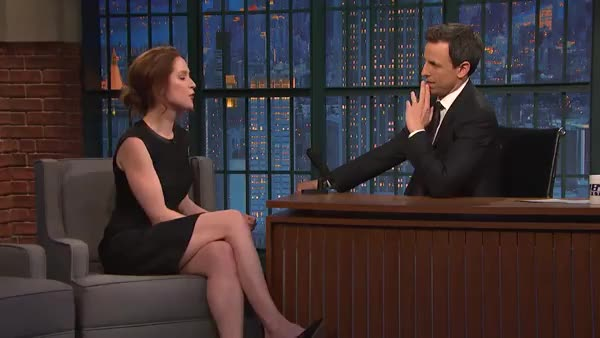 Watch and share Late Night With Seth Meyers GIFs and Ellie Kemper GIFs on Gfycat