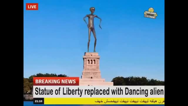 Watch and share Howard The Alien Is Now The Statue Of Liberty GIFs on Gfycat