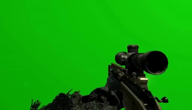 Watch and share Green Screen Mw3 Msr Remington GIFs on Gfycat