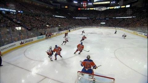 edmontonoilers, hockey, Flames goal waived off GIFs