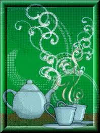 Watch and share Анимация Заварной Белый Чайник С Двумя Чашками На Зеленом Фоне, Гифка GIFs on Gfycat