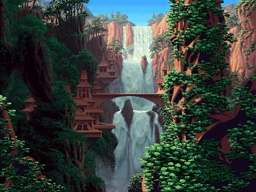 Watch and share Waterfall GIFs and 8 Bit GIFs on Gfycat