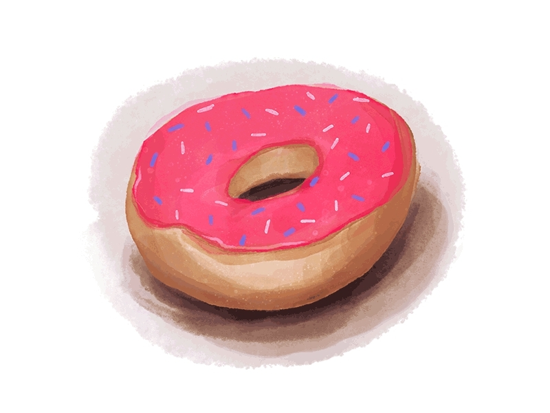 breakfast, dessert, donut, doughnut, food,  GIFs