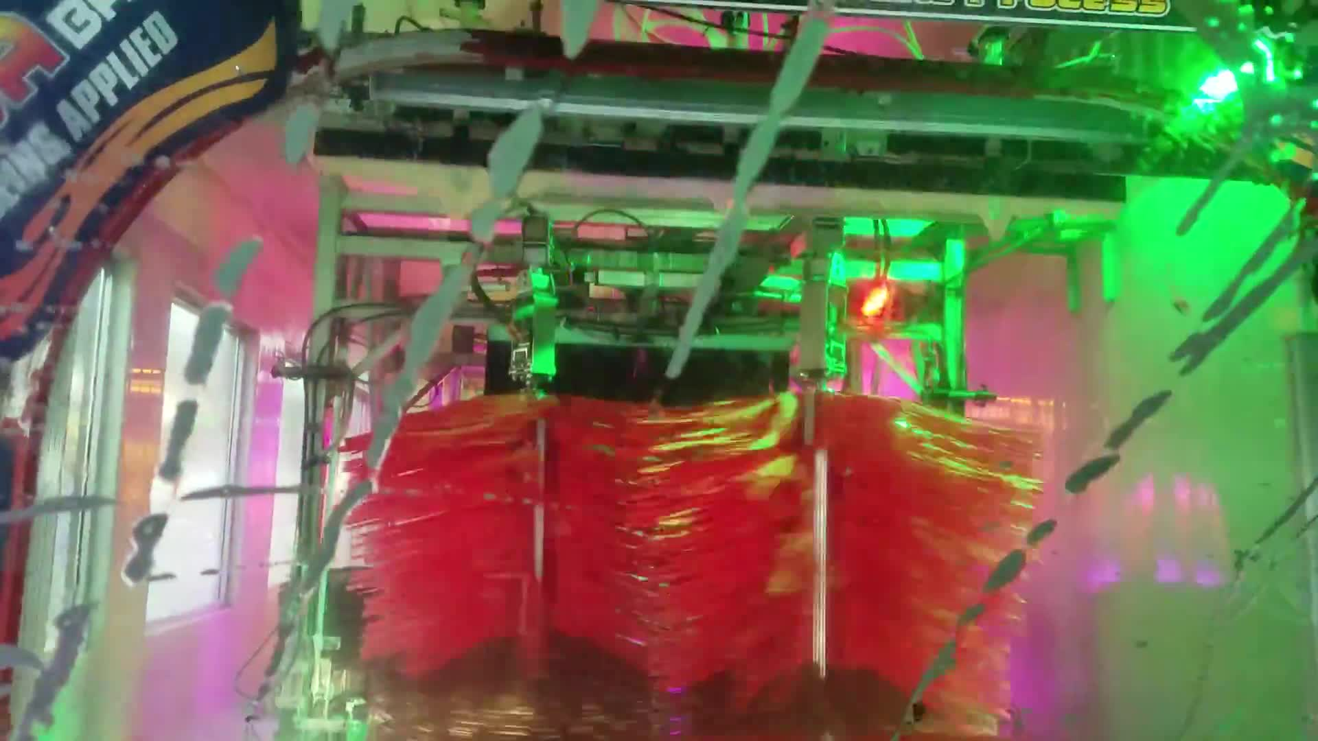 Lava car wash with light show. GIFs