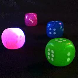 Watch and share Flashing Dice | Rainbow Multicolor GIFs on Gfycat