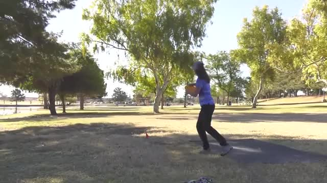 Watch Round Four 2019 Memorial Championship - Jessica Weese hole 9 drive GIF by Benn Wineka UWDG (@bennwineka) on Gfycat. Discover more Sports, dgpt, disc golf, disc golf pro tour GIFs on Gfycat