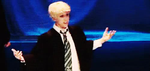 Watch and share Draco Malfoy GIFs and Harry Potter GIFs on Gfycat