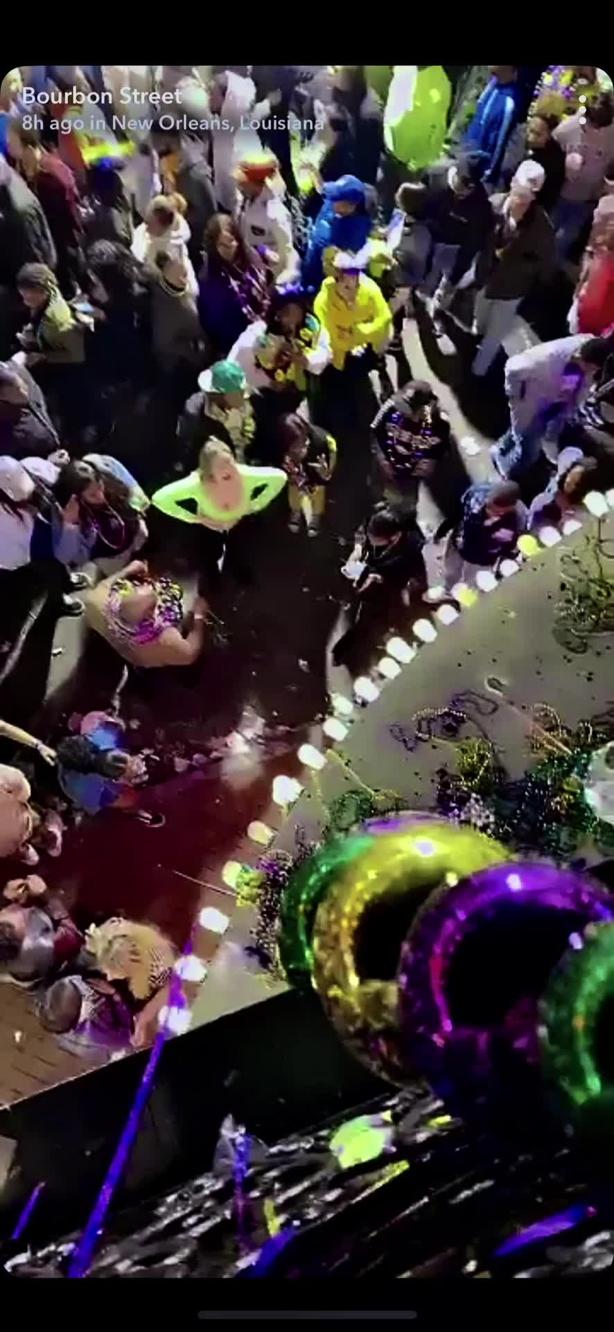 Sexy Blonde Mardi Gras Flash