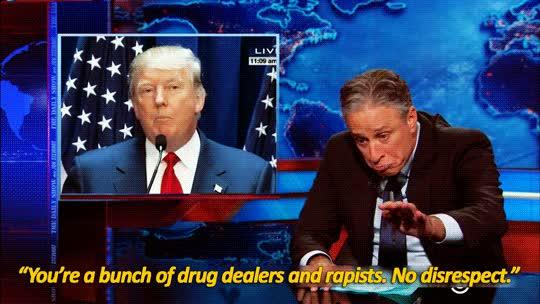Watch and share Donald Trump GIFs and Jon Stewart GIFs on Gfycat