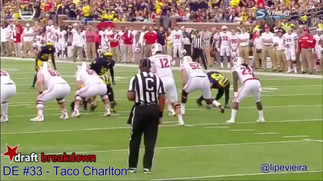 Watch and share Taco Charlton Vs Wisconsin 2016 GIFs on Gfycat