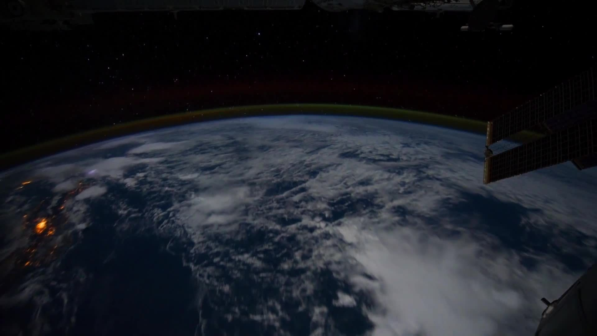 earth, earthgifs, iss, All Alone in the Night - Time-lapse footage of the Earth as seen from the ISS GIFs