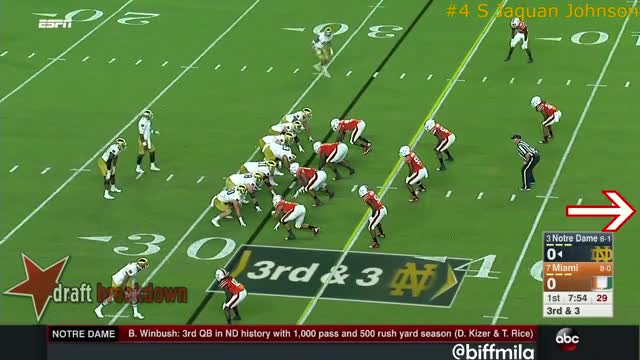 Watch Jaquan Johnson (Miami) vs. Notre Dame (2017) GIF on Gfycat. Discover more Canes, College Football, Irish, Jaquan Johnson, Miami, Miami Hurricanes, ND, Notre Dame, Notre Dame Fighting Irish, The U GIFs on Gfycat