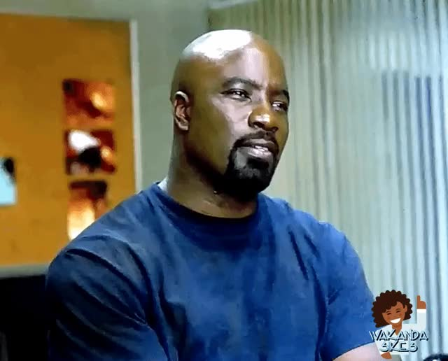 Watch and share Mike Colter GIFs and Really GIFs by Petty Parker on Gfycat