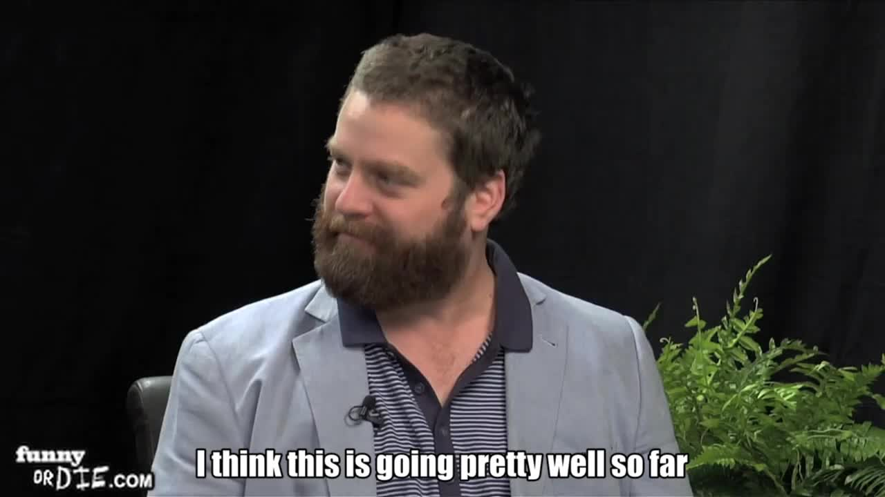 FoD, Will Ferrell Between Two Ferns with Zach Galifianakis, between two ferns, between two ferns with zach galifianakis, fod, funny or die, funnyoooordie, will ferrell, will ferrell between two ferns with zach galifianakis, zach galifianakis, having a great time GIFs