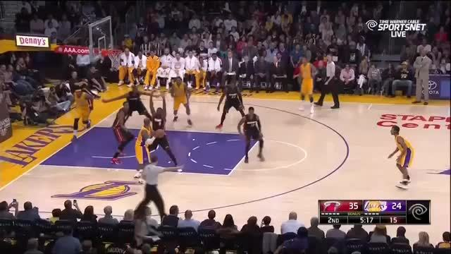 Whiteside Contests the Lakers' shots GIFs