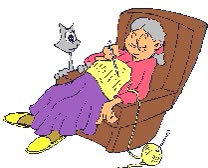 Watch and share Old Woman And Cat animated stickers on Gfycat